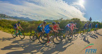 Prova di ciclismo su strada triathlon
