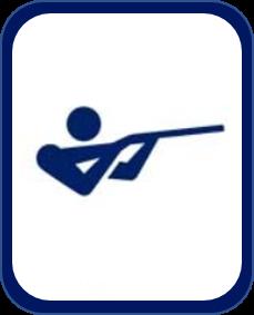 Pittogramma tiro a volo Tokyo 2020