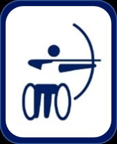 Pittogramma tiro con l'arco paralimpico Tokyo 2020