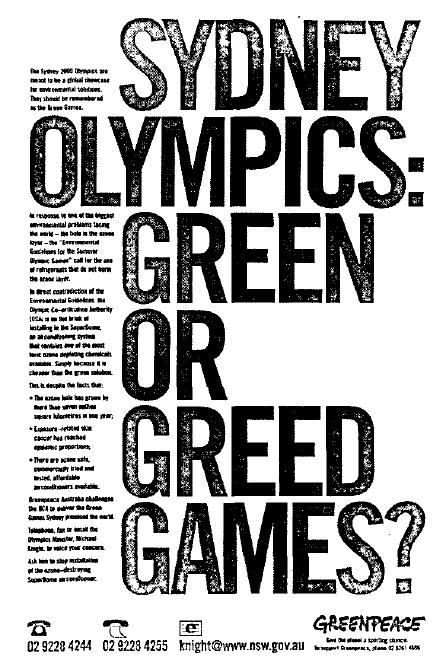 sydney 2000 greenpeace