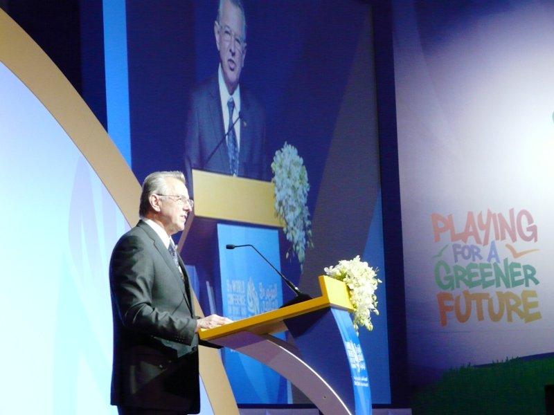 Pal Schmitt 2011 IOC Sport and Environment Conference