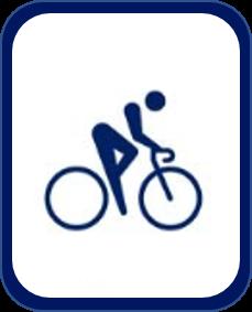 Pittogramma ciclismo su strada