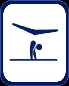 Pittogramma ginnastica artistica Tokyo 2020