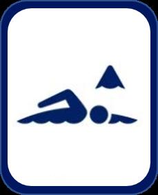 Pittogramma nuoto di fondo Tokyo 2020