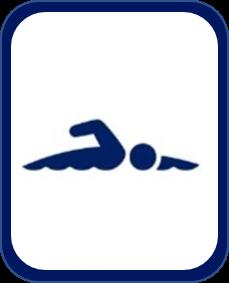 Pittogramma nuoto paralimpico Tokyo 2020
