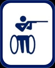 Pittogramma tiro a segno paralimpico Tokyo 2020