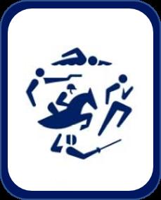 Pittogramma pentathlon Tokyo 2020