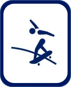 Pittogramma skateboard Tokyo 2020