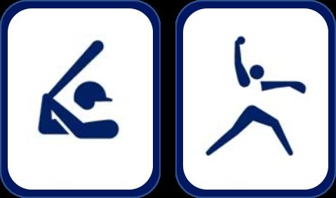 Pittogramma baseball softball Tokyo 2020