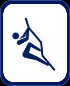 Pittogramma arrampicata Tokyo 2020