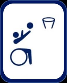 Pittogramma basket in carrozzina Tokyo 2020
