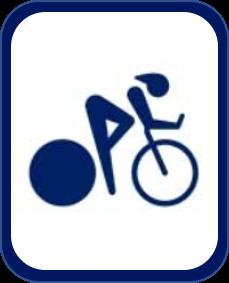 Pittogramma ciclismo su pista