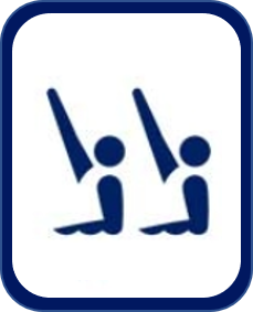 Pittogramma nuoto sincronizzato Tokyo 2020