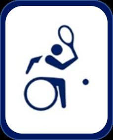 Pittogramma tennis in carrozzina Tokyo 2020