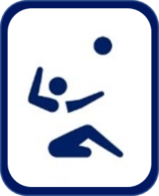 Pittogramma sitting volley Tokyo 2020