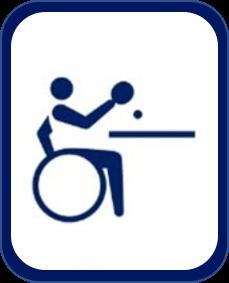 Pittogramma tennistavolo paralimpico Tokyo 2020