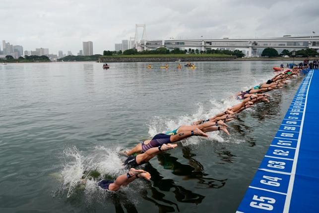 odaiba marine park test triathlon